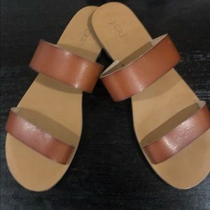 Leather JCrew Sandals